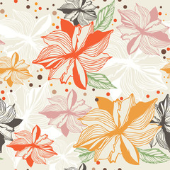 Floral Border seamless Vector Background 3