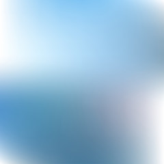 Blurred blue and white background vector illustration abstract.