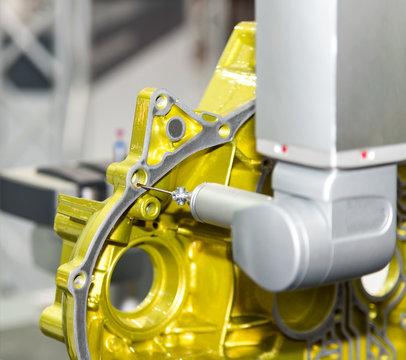 inspection automotive mold cam shaft dimension by CMM measuring machine