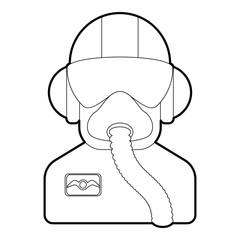 Pilot icon. Outline illustration of pilot vector icon for web design
