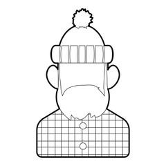 Lumberjack icon. Outline illustration of lumberjack vector icon for web design