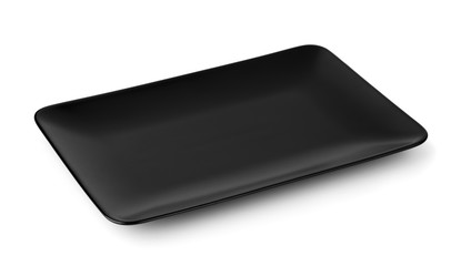 Black rectangle serving platter