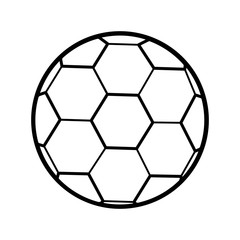 silhouette soccer ball toy icon vector illustration