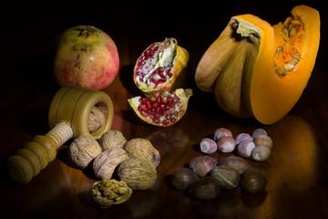 Frutta secca di stagione autunnale