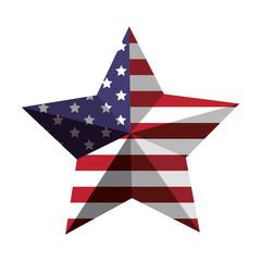 3d American flag star icon vector illustration