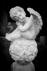 sitting angel