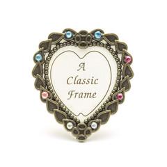 Vintage heart frame isolated on white