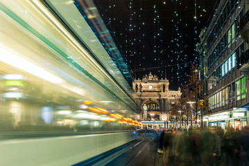 Christmas shopping in the decorated Zurich Bahnhofstrasse - 7