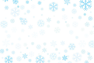 Vector of Christmas snowflakes for winter season.