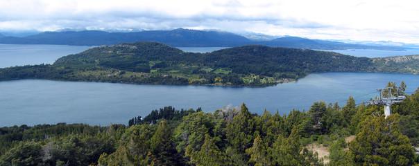 Lakes and rivers in San Carlos de Bariloche.