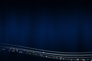 Abstract dark blue background with the light lines