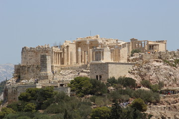 View of the Acropolis from the Filopappou Hill