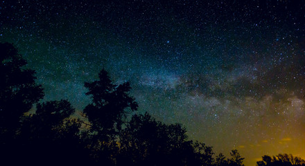 View on Milky Way Galaxy on nigh sky