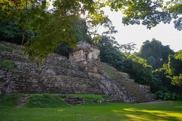 Mayan ruins in Palenque, Chiapas, Mexico.