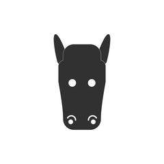 Vector illustration of animals on stylish background horse face