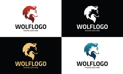 Wolf logo design template ,Vector illustration