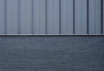 Architecture, abstract composition - brick, metal.