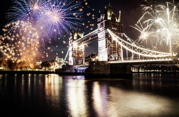 celebration of the New Year in London, UK