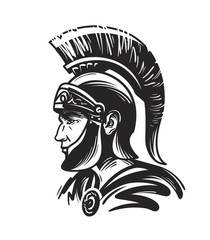 Roman centurion soldier. Sketch vector illustration