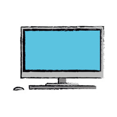 cartoon screen computer wireless device vector illustration eps 10