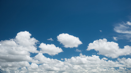 Wonderful white clouds on blue sky
