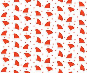 Santa hat seamless pattern. Christmas cap endless background, texture. Christmas, New Year's backdrop. Vector illustration