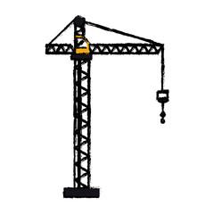 crane hook construction machine drawing vector illustration eps 10