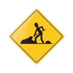 warning under construction repair sign vector illustration eps 10