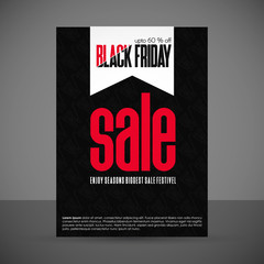 Creative Black Friday banner template. place for image. Sale Banner Facebook Cover. Place for image. Banner template for photographer. Vector illustration