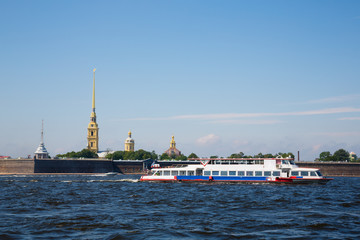 View of the Peter and Paul Fortress in St. Petersburg
