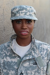 Female American Soldier - Stock image