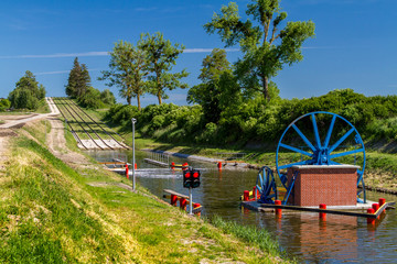 The Elblag Canal, historical monument of hydro-engineering, Poland