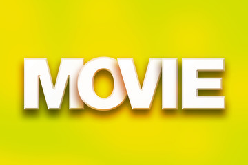 Movie Concept Colorful Word Art