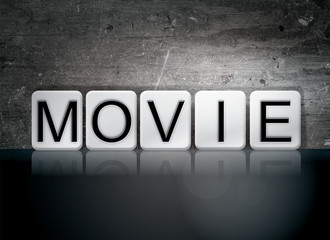 Movie Tiled Letters Concept and Theme