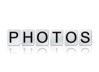 Photos Isolated Tiled Letters Concept and Theme