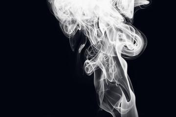 White smoke of Design elements on black background
