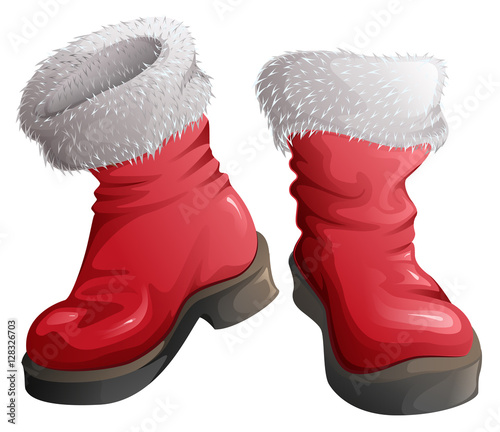 Quot red shoes santa claus christmas clothing accessories