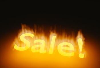 detailed glowing burning fire hot sale 3d illustration