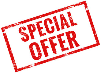 Special offer stamp red