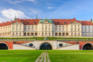 Royal Castle, a famous landmark in the Old Town of Warsaw, Poland.