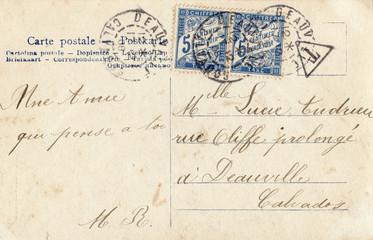 French antique vintage postcard carte postale.