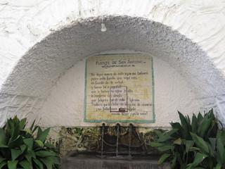 Village fountain in Pampaneira