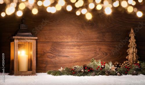 weihnachten arrangement mit laterne weihnachtsdeko und. Black Bedroom Furniture Sets. Home Design Ideas
