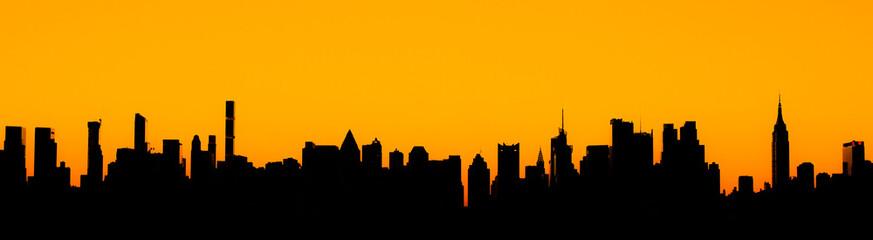 Zonsopgang geschoten in Manhattan, New York