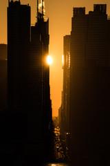 Sunrise shot in Manhattan, New York