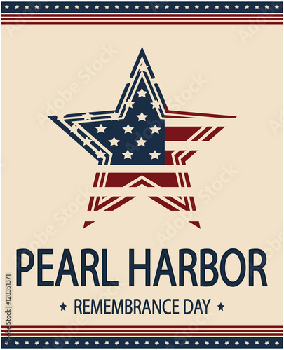 """Pearl Harbor remembrance day card or background. vector ..."