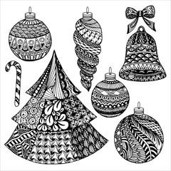 Zentangle christmas collection