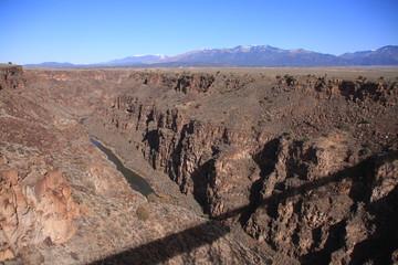 view from the Rio Grande Gorge bridge