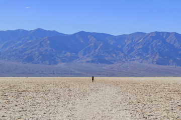 Beautiful landscape around Badwater Basin