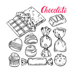 set of sketch chocolate candies